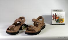 Colección Panama Jack. Sandalia de piel nobuck con velcros - Taupe. (muller).