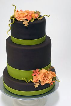 Autumn Wedding Cake by studiocake, via Flickr