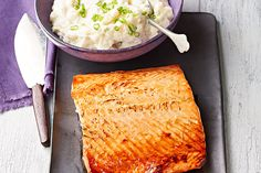 You know they'll enjoy the pan-fried salmon. But will they like cauliflower mash instead of potatoes? They will if you blend them with cream cheese!