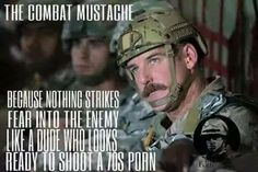 That Stache is out of regs Military Jokes, Army Humor, Military Life, Police Humor, Rotc Memes, Green Beret, Military Pictures, American Soldiers, Usmc