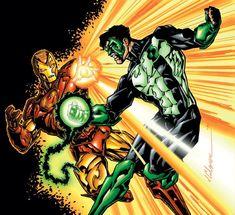 iron man vs green lantern//Jim Calafiore/C/ Comic Art Community GALLERY OF COMIC ART