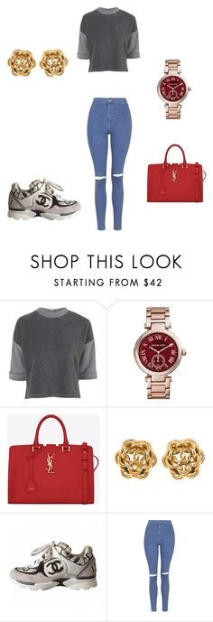 """""""Untitled #76"""" by chey261 ❤ liked on Polyvore featuring Topshop, Michael Kors, Yves Saint Laurent and Chanel"""