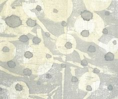 Ann Symes Japanese woodblock print over  sumi-e ink