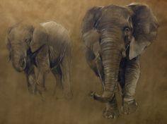 elephant , crayon