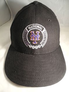 New York Mets 2000 National League Champions New Era Cap; MLB Auth;One Size