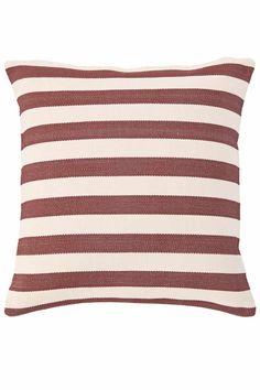 Fresh American Trimaran Stripe Breton Red/Ivory Indoor/Outdoor Pillow | Dash & Albert Rug Company