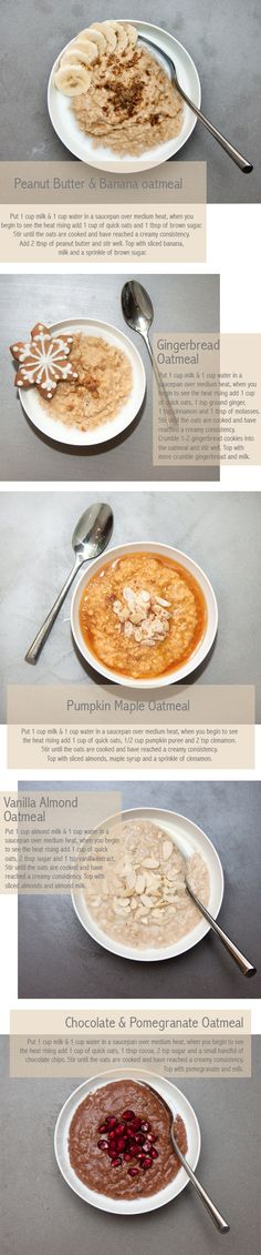 oatmeal - Breakfast Recipes. Oatmeals - okay not the right DIY for the summer, but the next winter is coming. ;)