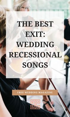The Best Exit: Wedding Recessional Songs. Chancey Charm is a full service wedding planning & coordination company serving brides across the US, as well as internationally. We also provide quality wedding planner training. Wedding Ceremony Exit Songs, Wedding Recessional Songs, Country Wedding Songs, Country Songs, Wedding Entrance Songs, Wedding Ceremonies, Wedding Bells, Free Wedding Magazines, Wedding Punch