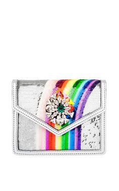 Mini Daktari Sequin Bag In Rainbow by Shourouk - Moda Operandi
