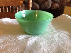 Vintage Small Fired-On Green Bowl by UpNorthAntiques on Etsy https://www.etsy.com/listing/234128912/vintage-small-fired-on-green-bowl