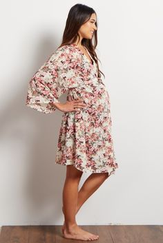 White Floral Dressing Robe