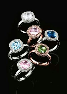 Thomas Sabo rings. Sterling Silver with beautiful classic halo designs. Tompkins Jewellersl.