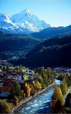 Alpine river flowing through of Sölden, Austria (by Walter Q's)