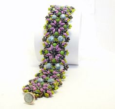 Tutorial  Bracelet SuperbDuo with Superduo beads by CrownofStones, €8.00