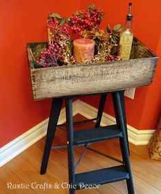 step ladder makeover old crate fun tray table, painted furniture, repurposing upcycling, rustic furniture, finished tray table Rustic Furniture, Painted Furniture, Diy Furniture, Furniture Makeover, Reupholster Furniture, Unique Furniture, Bedroom Furniture, Old Crates, Wooden Crates