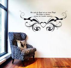 Herzenssprüche deine Wanddeko jEngel fliegen mit Liebe Wandtattoo #lichterleben #wanddeko