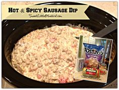 Hot & Spicy Sausage Dip! Simple to make, so good. Only 3 Ingredients ...