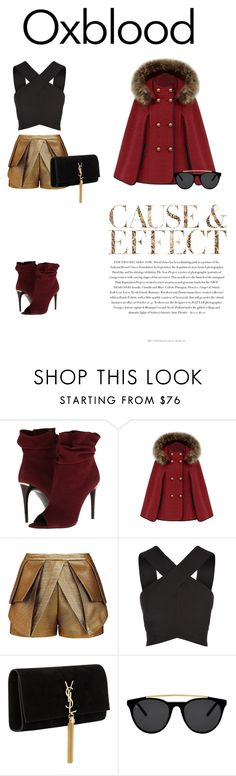 Hot color trend: Oxblood by adriana-claudia on Polyvore featuring Keepsake the Label, sass & bide, Burberry, Yves Saint Laurent, Smoke & Mirrors, Envi and oxblood