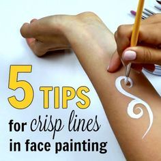 5 Tips for Crisp Lines in Face Painting is part of Face painting - Crisp, accurate lines made easy and fast require lots of practice But nothing is impossible, especially if you know exactly what to do and how to do it Continue Reading ➞ Diy Face Paint, Face Painting Tips, Face Painting Tutorials, Belly Painting, Painting Patterns, Face Paintings, How To Face Paint, Simple Face Painting, Body Paint
