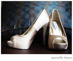 Champagne Wedding shoes with crystals!
