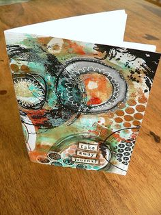 Step by step. Handmade art journal with monoprint base.