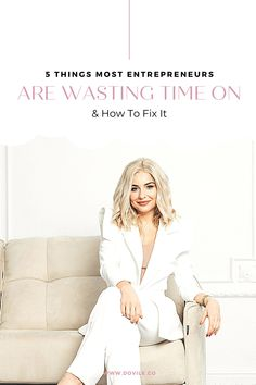 5 Things Most Entrepreneurs Are Wasting Time On & How To Fix It. female entrepreneur - business coach - female entrepreneur tips Unique Business Ideas, Business Tips, Etsy Business, Social Media Influencer, Build Your Brand, Business Entrepreneur, Marketing Ideas, Growing Your Business, 5 Things