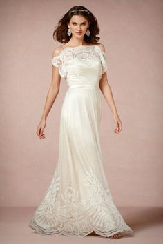 Beautiful vintage style wedding dress by BHLDN