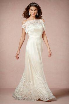 Beautiful vintage style wedding dress by BHLDN