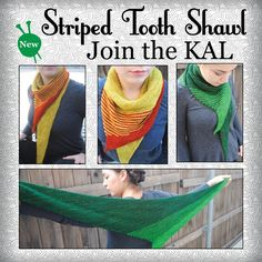 Join Grace Akhrem's Striped Tooth Shawl KAL featuring our Baah La Jolla yarn! Click through for details on Grace's blog, KAL starts March 15th!