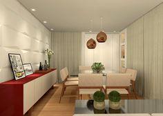 Sala de Estar e Jantar - RJ : Salas de jantar modernas por Konverto Interiores e Arquitetura