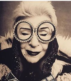 Iris Apfel is everything we aspire to be. #style #inspiration RG  via MARIE CLAIRE SOUTH AFRICA MAGAZINE OFFICIAL INSTAGRAM - Celebrity  Fashion  Haute Couture  Advertising  Culture  Beauty  Editorial Photography  Magazine Covers  Supermodels  Runway Models