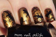 Geckos with circular gradient ~ More Nail Polish