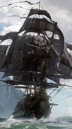 Video Game Skull and Bones Pirate Ship Mobile Wallpaper Sailing Girl, Old Sailing Ships, Pirate Games, Pirate Art, Pirate Ships, Free Android Wallpaper, Mobile Wallpaper, Iphone Wallpaper, Wallpaper Quotes