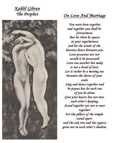 Khalil Gibran On Love | Kahlil Gibran's poetry about love and partnership