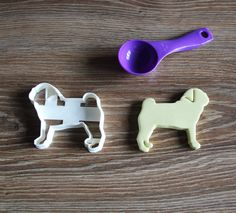 Pug Cookie Cutter Dog Breed Treat Cutter puppy cupcake toppers by CookieCuttersFactory on Etsy
