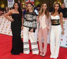 Little Mix assemble: Jesy Nelson, Perrie Edwards, Jade Thirlwall and Leigh-Anne Pinnock worked the red-carpet in knock-out outfits - Jesy looked flawless in a striking black gown, teamed with lolaandgrace jewellery Jesy Nelson Instagram, Little Mix Videos, Perrie Edwards Style, Little Mix Outfits, Pride Of Britain, Girls Aloud, Pink Trousers, Caroline Flack, Selfie Sexy