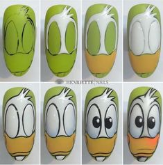Acrylic False Almond Nails Designs Art In Summer With Fresh And Vibrant - Keep creating beauty and warm home, Find more happiness in daily life Nail Art Hacks, Nail Art Diy, Easy Nail Art, Nail Art Designs Videos, Simple Nail Art Designs, Halloween Nail Designs, Halloween Nail Art, Comic Nail Art, Mickey Mouse Nail Art