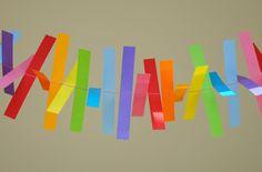 Dicas pra Mamãe: Faça você mesma: Varal de tiras coloridas de papel