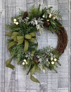 Excited to share the latest addition to my shop: fall wreath front door winter wreath front door winter door wreath winter evergreen front door wreath greenery winter wreath pine wreath wreathsforfrontdoor Outdoor Christmas Wreaths, Holiday Wreaths, Christmas Crafts, Christmas Decorations, Holiday Decor, Winter Wreaths, Christmas Wreaths For Front Door, Christmas Greenery, Diy Wreath
