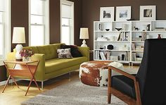 Fitz End Table - End Tables - Living - Room & Board 19w 21d 22h  cherry, walnut, and black solid woods
