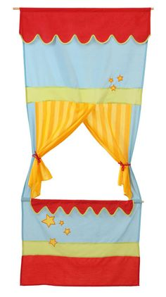 Puppet theatre for door