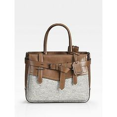 Reed Krakoff Boxer Tote - Grey/Saddle