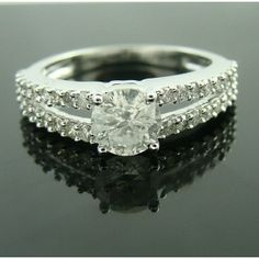 1.48ct solitaire real diamond ring 18k white gold