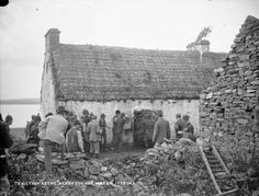 In the late summer of 1888 a large number of evictions took place on the estate of Vandeleurs in the wider Kilrush area. T Birmingham's House. Moyasta, Co. Clare