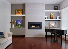 Alcove Shelves Living Room Design Ideas, Pictures, Remodel and Decor