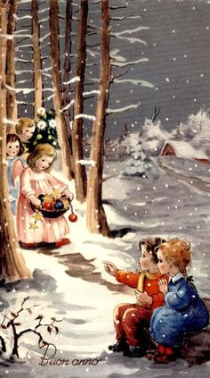 I wish you a Christmas full of tenderness! ...angels