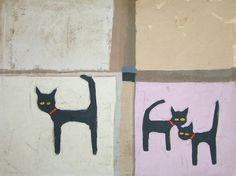Cat & Two Kittens by Colin Ruffell