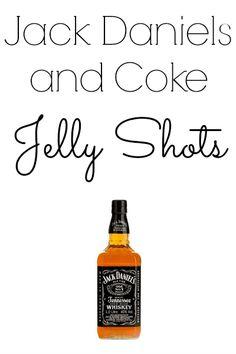 Jack Daniels and Coke Jelly Shots                                                                                                                                                                                 More