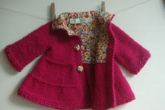 Adorable pattern for a top down knit baby jacket.  This is a pay for one - but worth it.  Take a step further and line it and add custom fabric buttons.