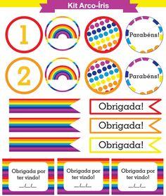 kit arco-iris pra imprimir